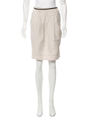 brunello cucinelli casual knee length skirt clothing