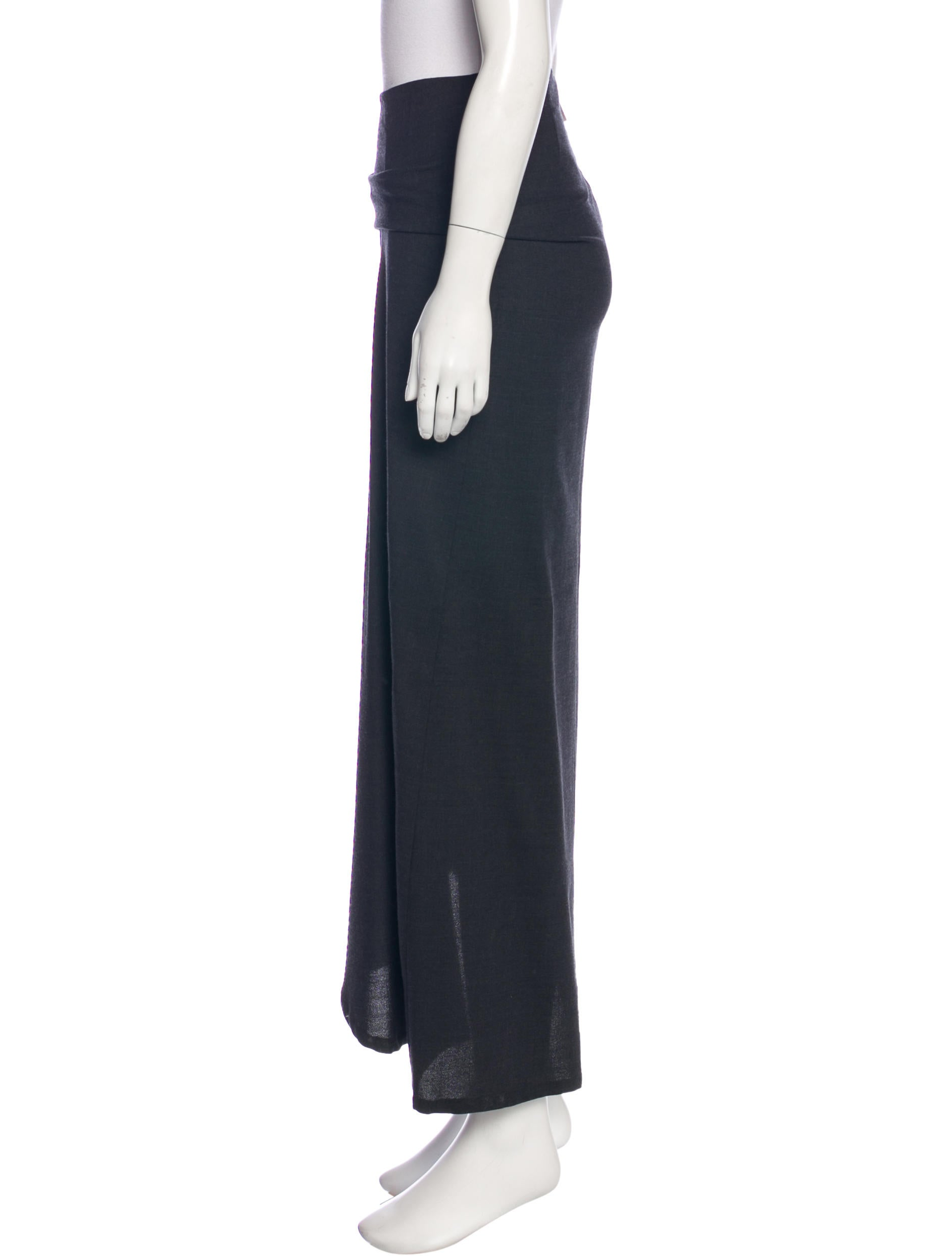 brunello cucinelli wool maxi skirt clothing bru46690