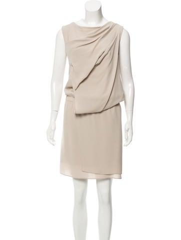 Brunello Cucinelli Sleeveless Silk Dress None