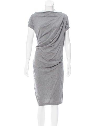Brunello Cucinelli Wool Draped Dress None