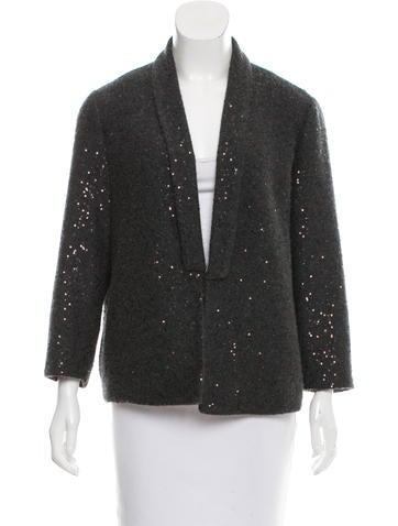 Brunello Cucinelli Sequined Cashmere Jacket None