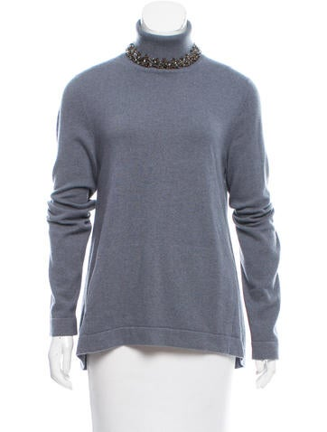 Brunello Cucinelli Embellished Cashmere Sweater w/ Tags None