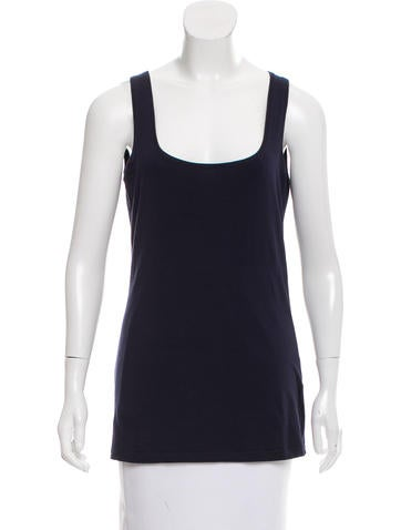 Brunello Cucinelli Sleeveless Scoop Neck Top None