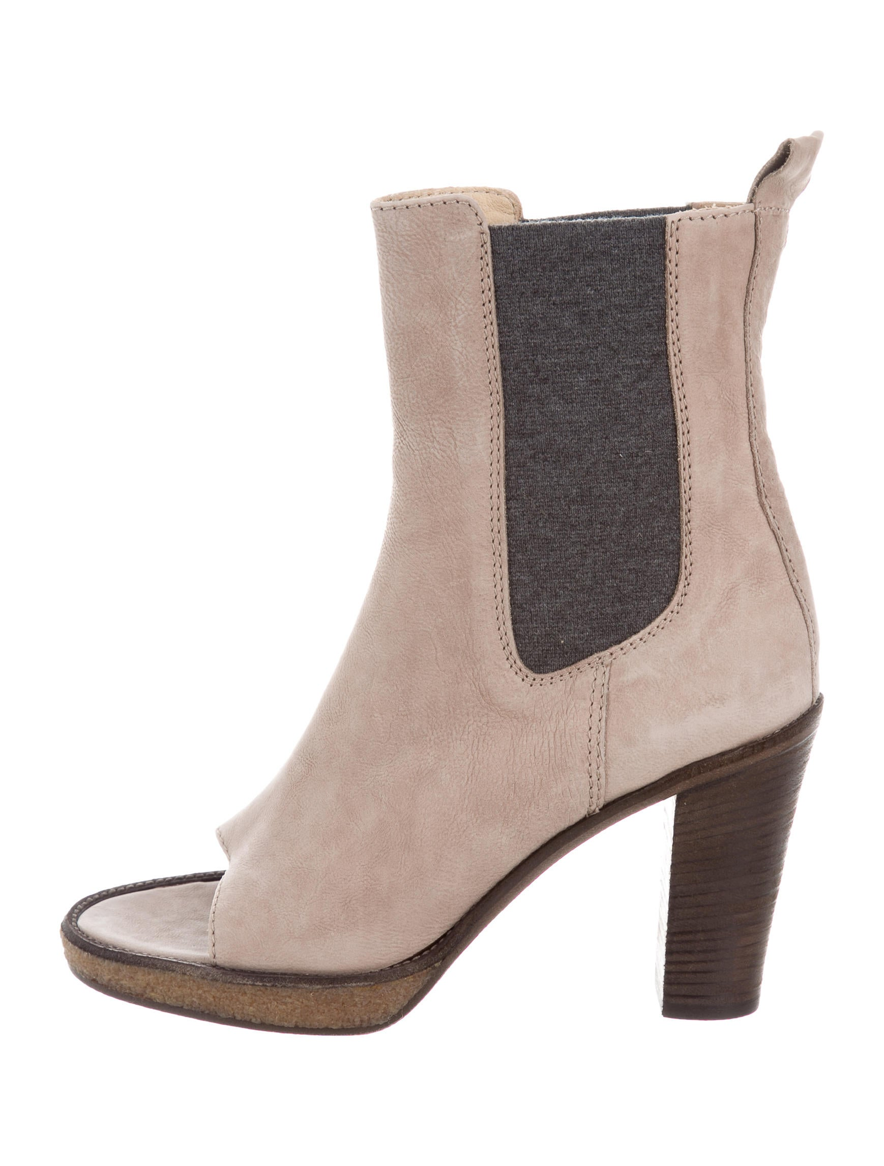 Brunello Cucinelli Leather Peep-Toe Ankle Boots w/ Tags fashionable online outlet new arrival phxjmp40JL