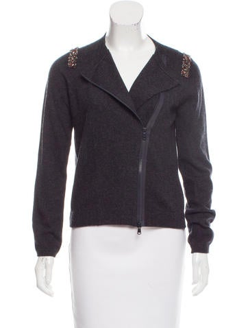 Brunello Cucinelli Embellished Cashmere Jacket None