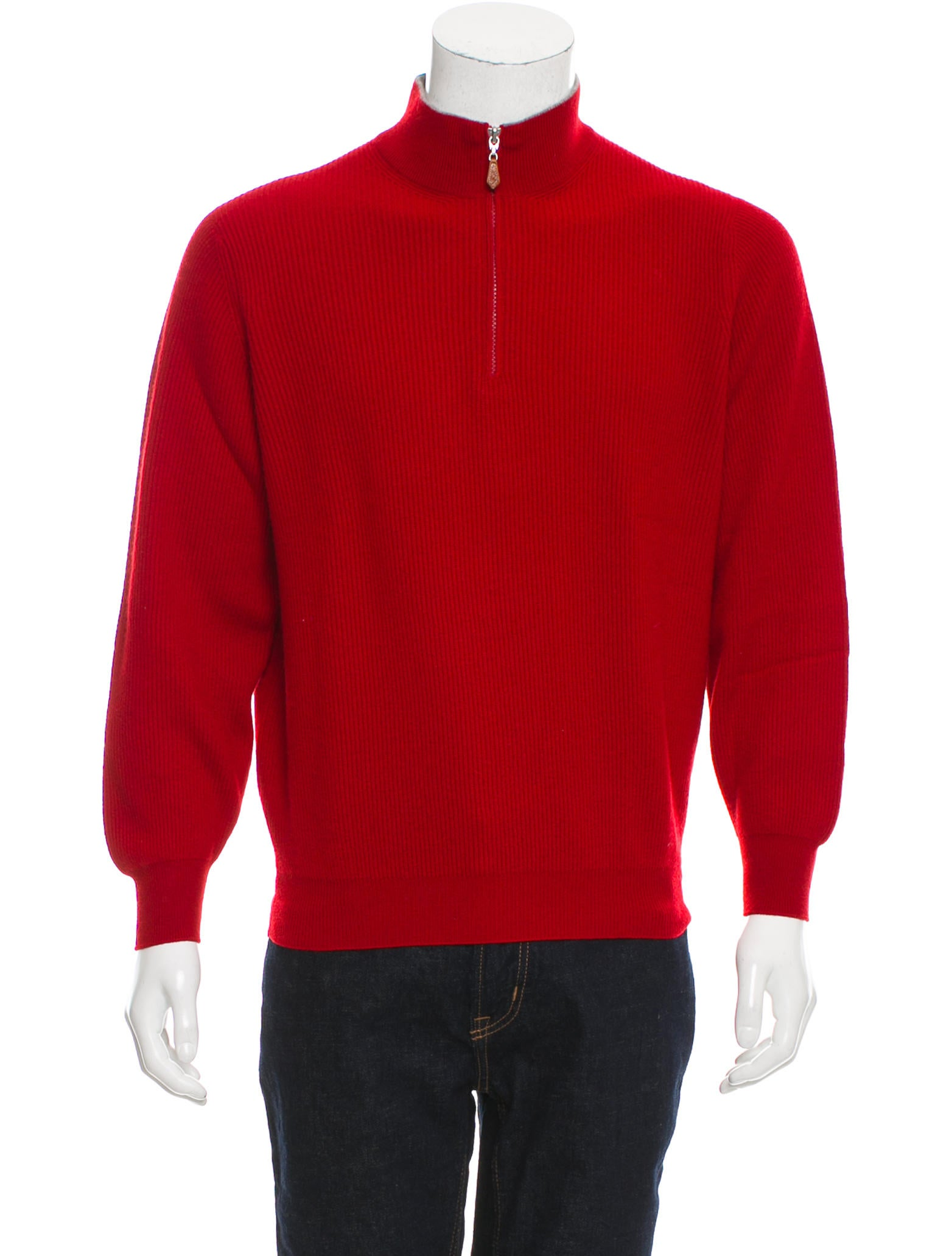 Brunello Cucinelli Cashmere Half-Zip Sweater - Clothing - BRU47532 | The RealReal
