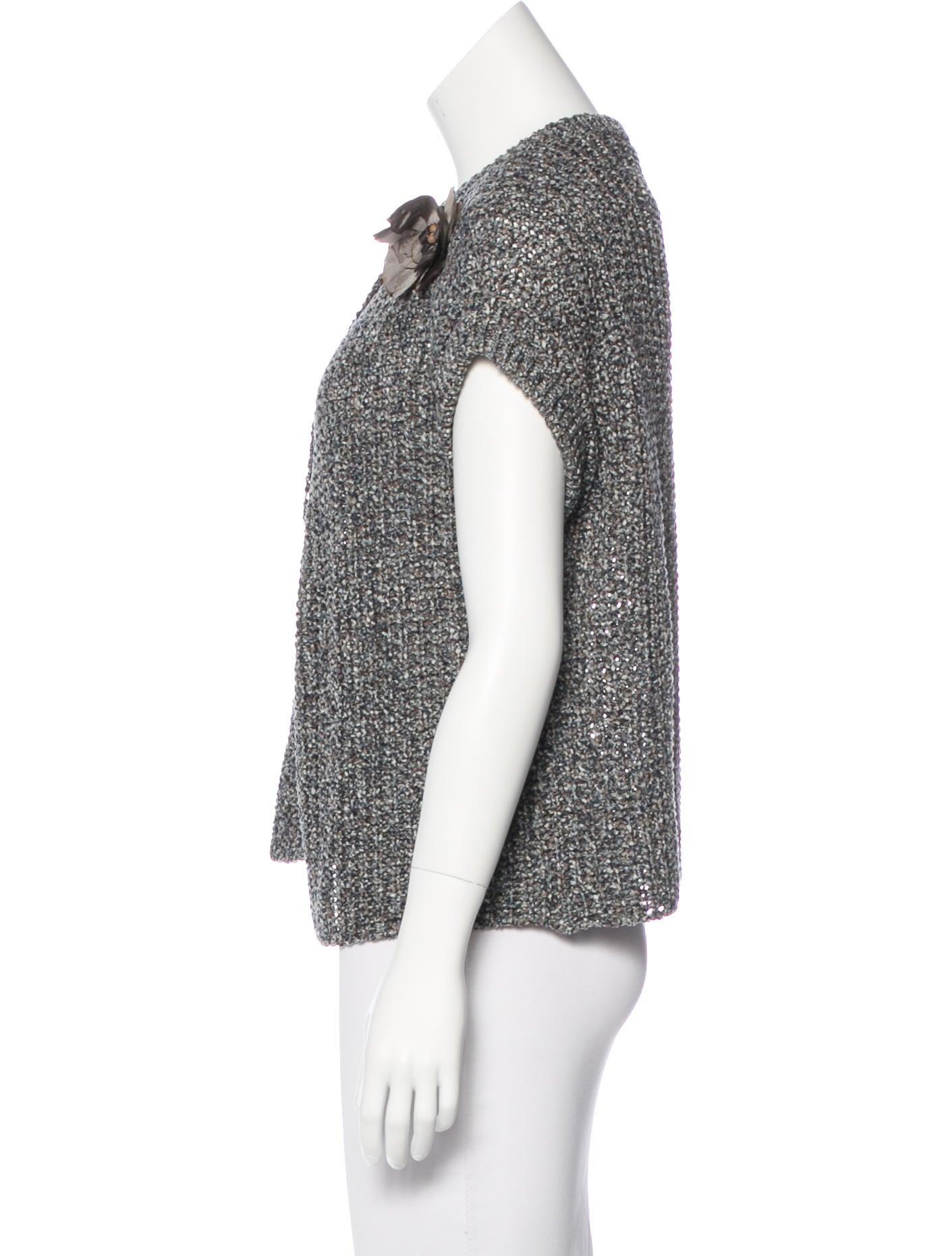 Brunello Cucinelli Short Sleeve Knit Cardigan - Knitwear ...