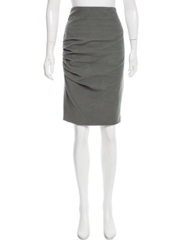 Brunello Cucinelli Corduroy Pencil Skirt None