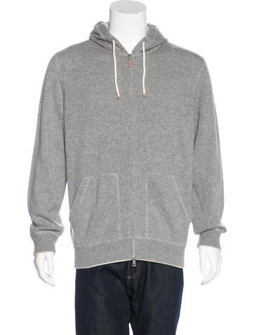 Zip Hoodie Knitting Pattern : Brunello Cucinelli Knit Zip-Up Hoodie - Clothing ...