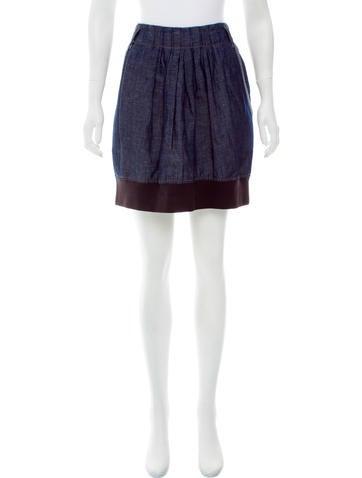 Brunello Cucinelli Chambray Mini Skirt None