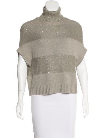 Brunello Cucinelli Cashmere Sequined Sweater None