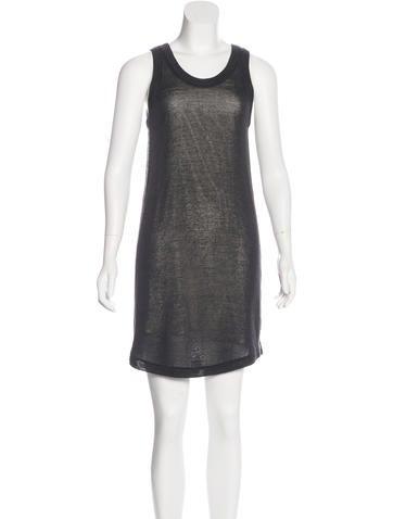 Brunello Cucinelli Monili-Trimmed Knit Dress w/ Tags None