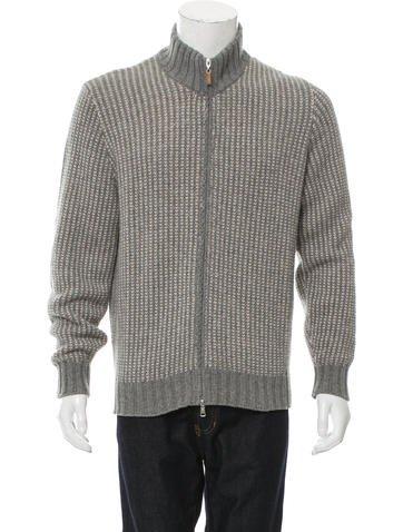 Brunello Cucinelli Wool Zip-Up Sweater None