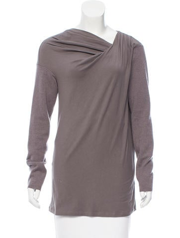 Brunello Cucinelli Contrast Scoop Neck Top None
