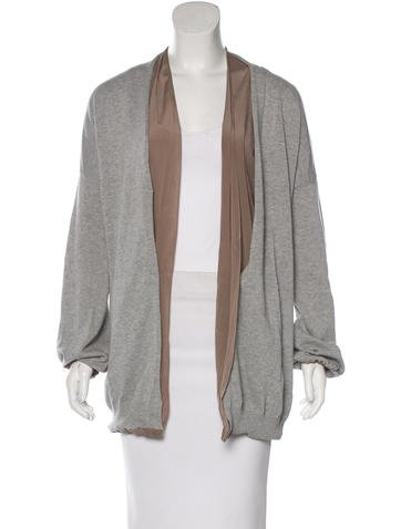 Brunello Cucinelli Open Front Long Sleeve Cardigan None