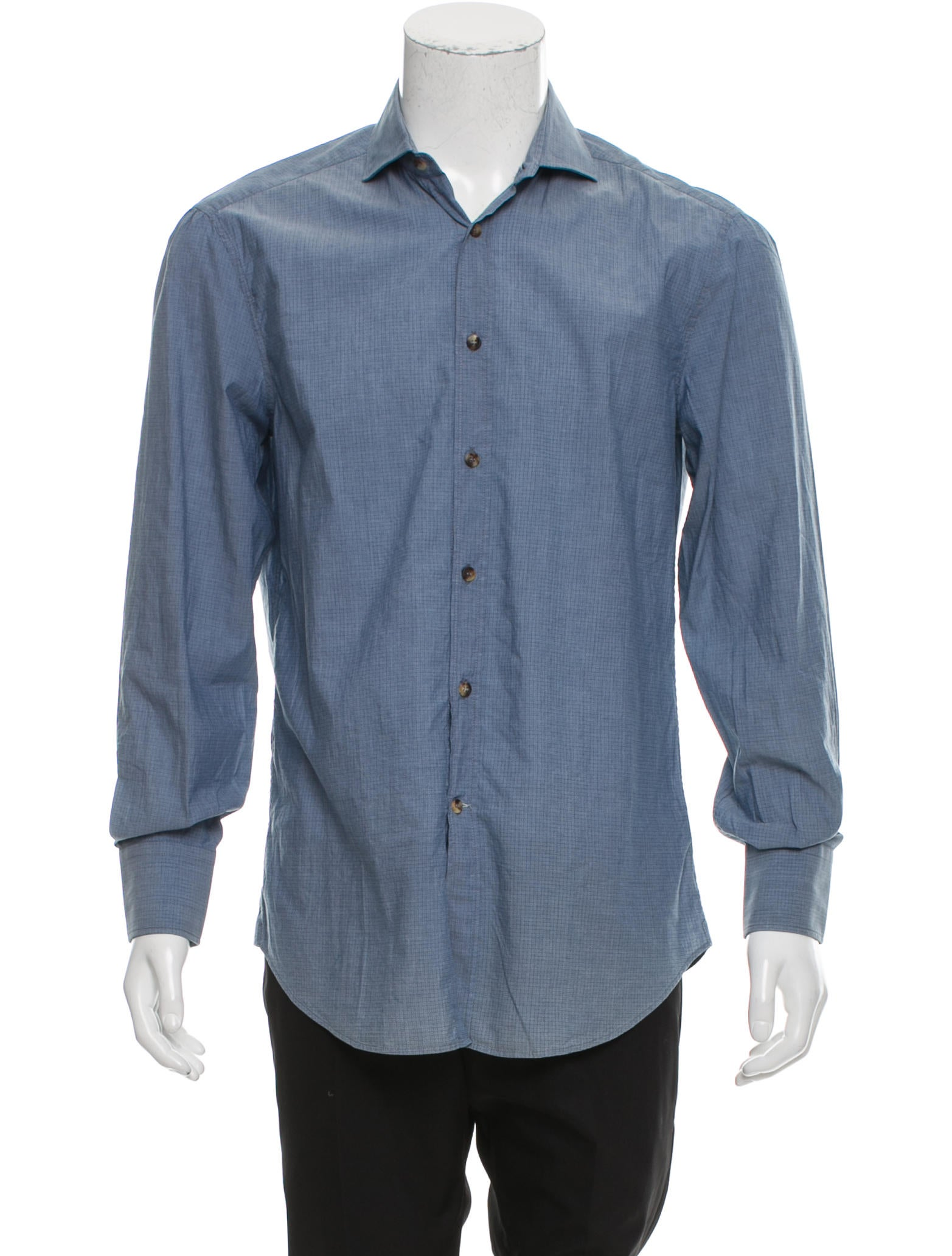 brunello cucinelli abstract print button up shirt
