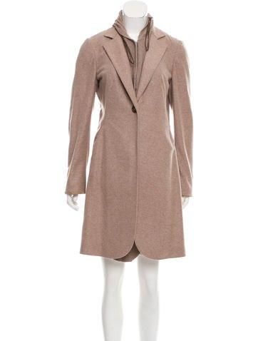 Brunello Cucinelli Cashmere Knee-Length Coat None