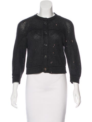 Brunello Cucinelli Knit Embellished Cardigan None