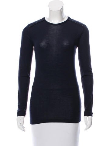 Brunello Cucinelli Studded Wool Top None