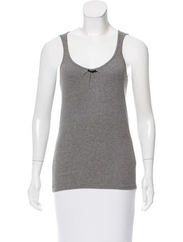 Brunello Cucinelli Embellished Rib-Knit Top None