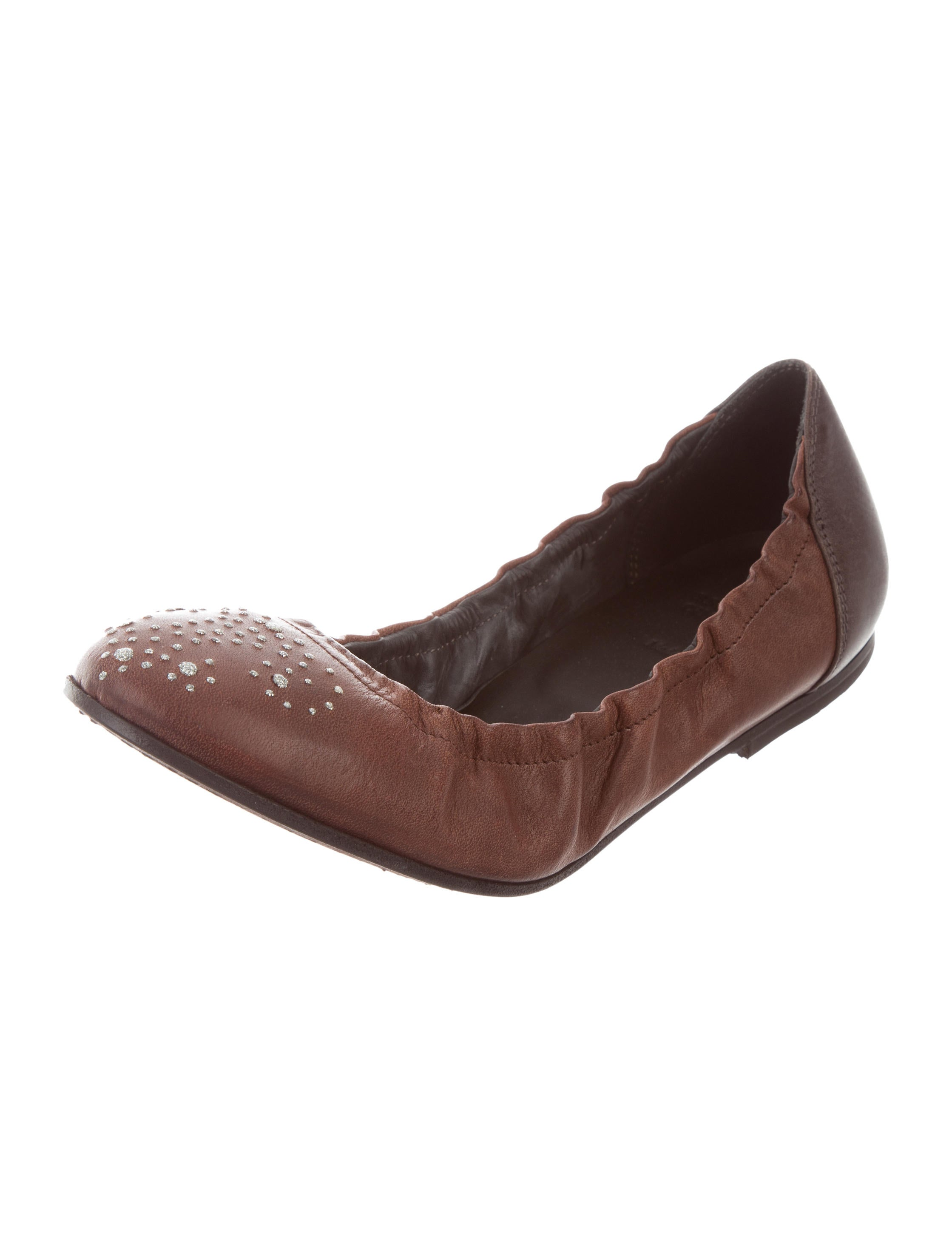 Brunello Cucinelli Leather Ballet Flats w/ Tags buy cheap for nice zNsCv