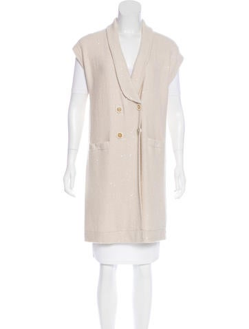 Brunello Cucinelli Cashmere & Silk-Blend Knit Vest None