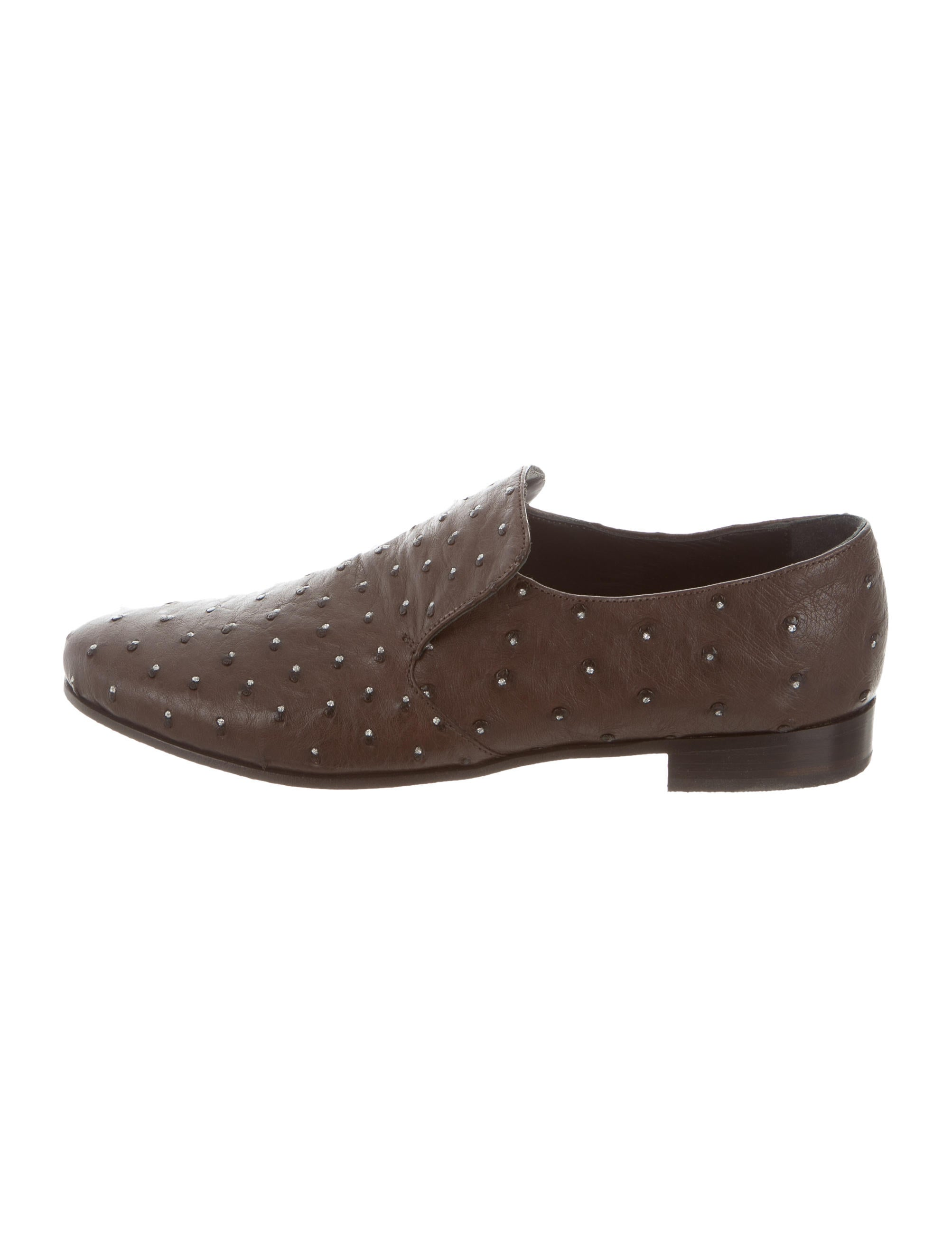 cheap sale sale with credit card for sale Brunello Cucinelli Ostrich Round-Toe Loafers w/ Tags limited edition for sale amazing price cheap price bFhCs3bgj