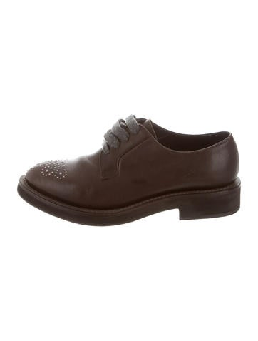 Brunello Cucinelli Studded Leather Oxfords w/ Tags nicekicks sale online cheap new footaction sale online 6UVRahU7W8