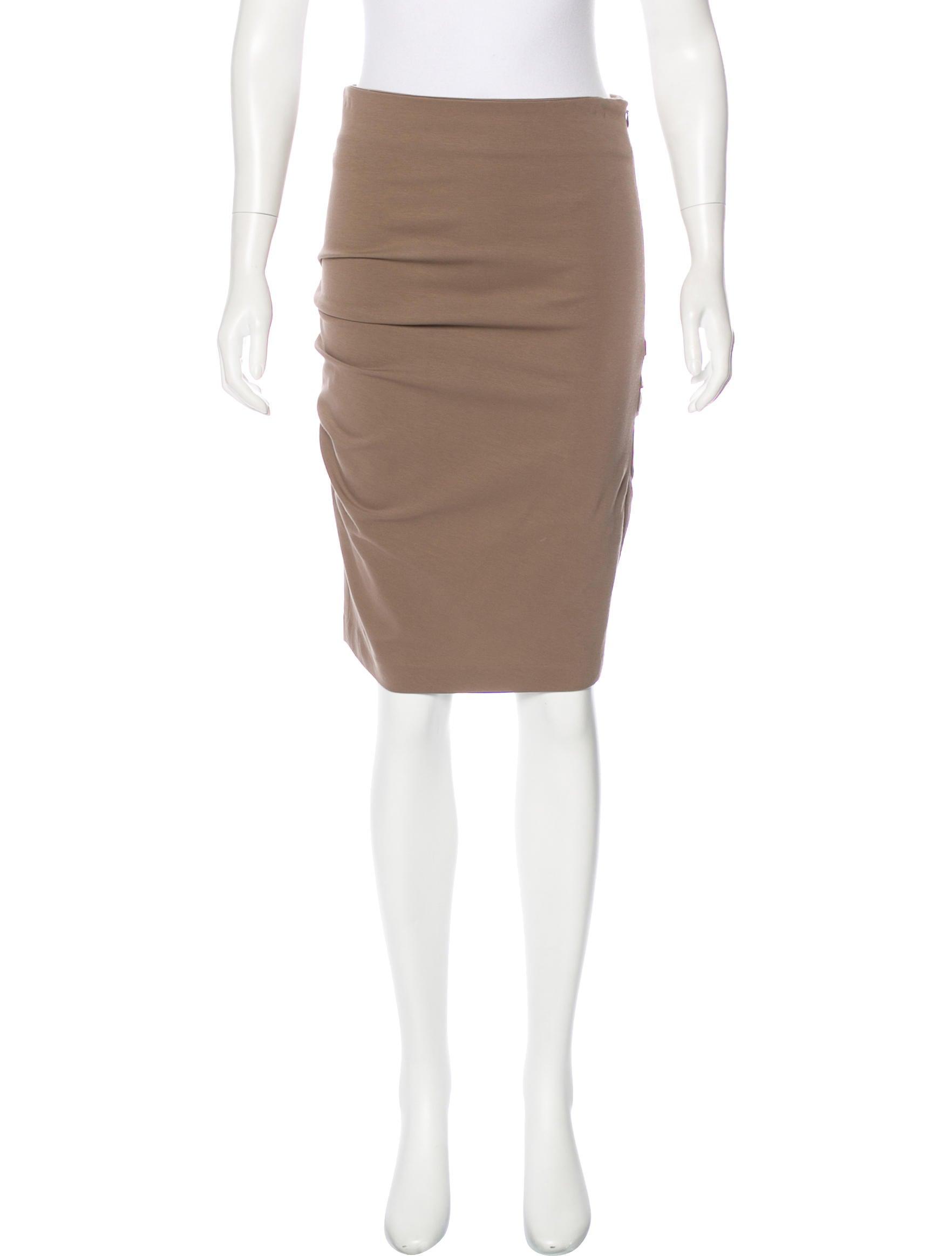brunello cucinelli knee length pencil skirt clothing