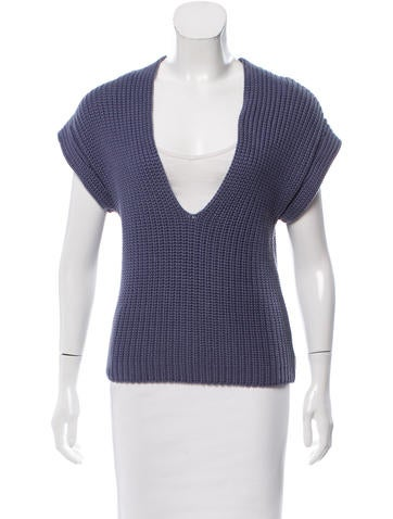 Brunello Cucinelli Heavy Knit Sleeveless Sweater None