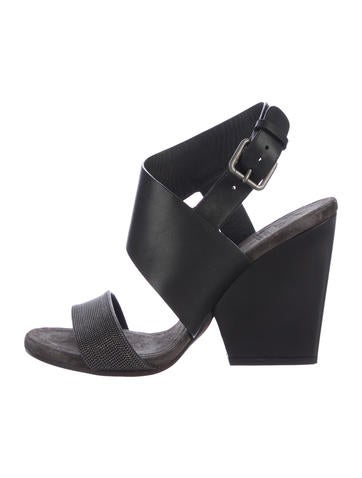 Brunello Cucinelli Embellished Wedge Sandals clearance shop for sast cheap online buy cheap from china HFuC2