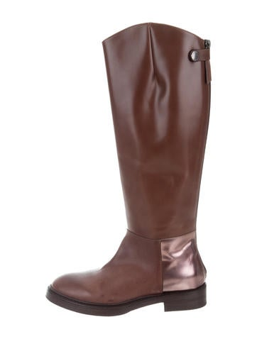visit clearance pay with paypal Brunello Cucinelli Leather Knee-High Boots w/ Tags best place cheap pay with paypal fast delivery sale online Ny0oU