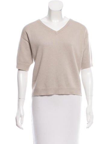 Brunello Cucinelli Short Sleeve Cashmere Sweater None