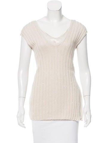 Brunello Cucinelli Knit Silk Top None