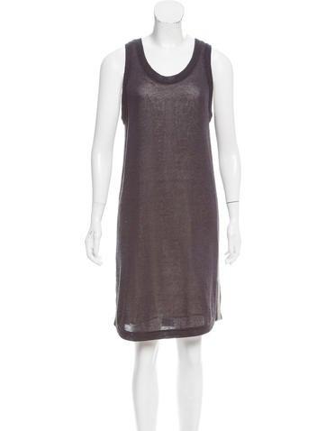 Brunello Cucinelli Monili-Trimmed Knit Dress None