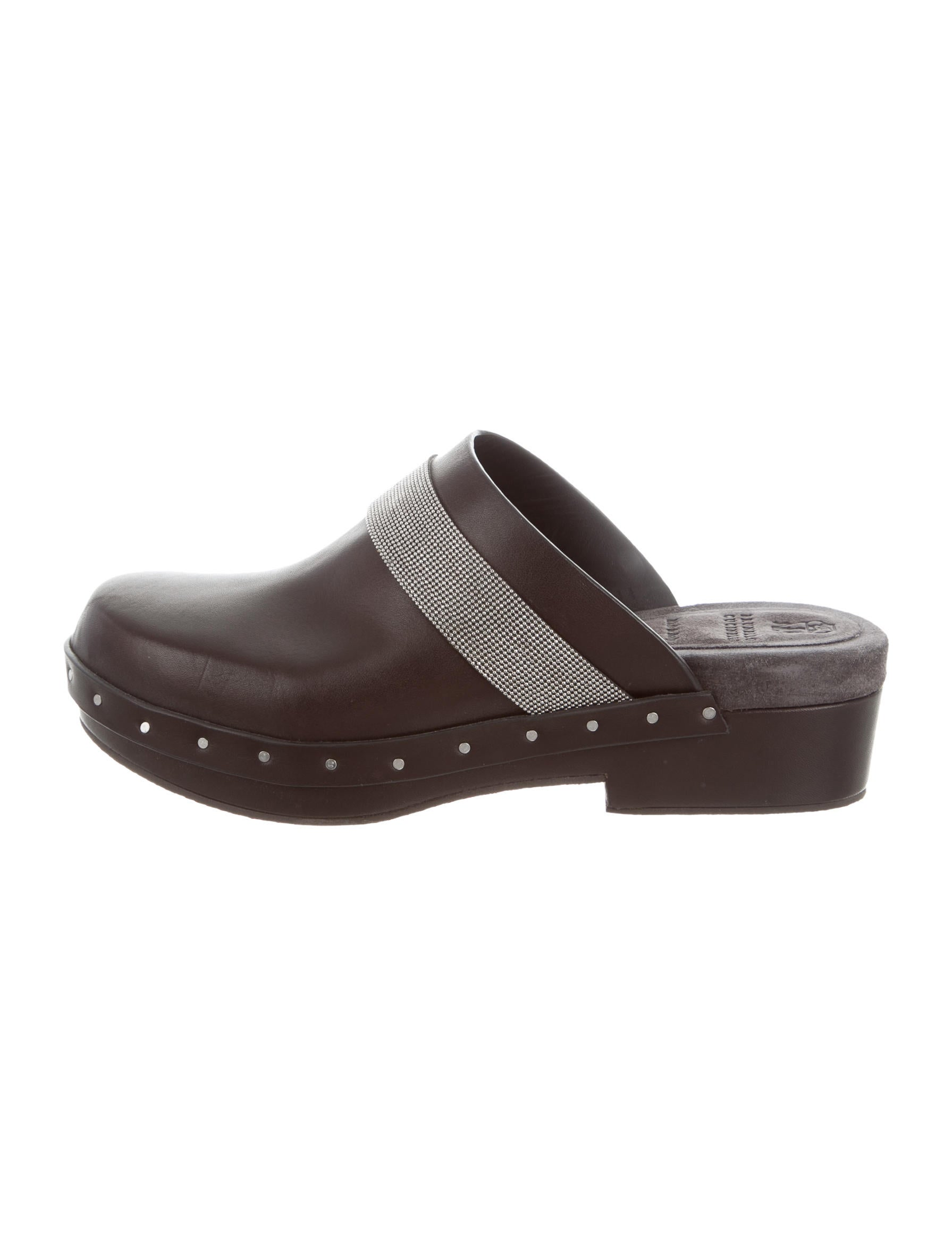 footlocker finishline for sale Brunello Cucinelli Leather Round-Toe Clogs buy online ebay sale online free shipping 100% guaranteed good selling cheap price 65uu59RD