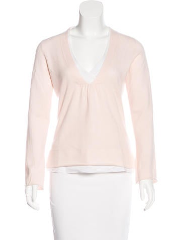 Brunello Cucinelli Cashmere V-Neck Top None