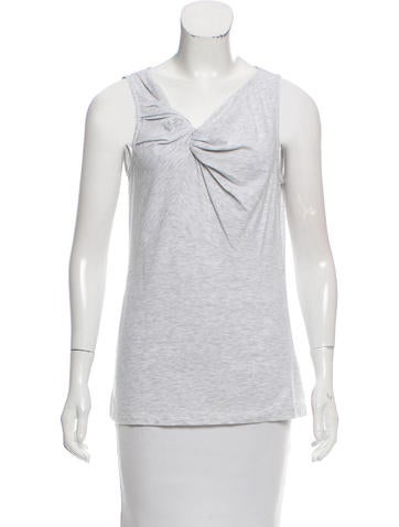 Brunello Cucinelli Twist-Accented Sleeveless Top w/ Tags None