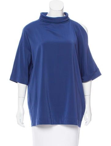 Brunello Cucinelli Silk Cold Shoulder Top w/ Tags None