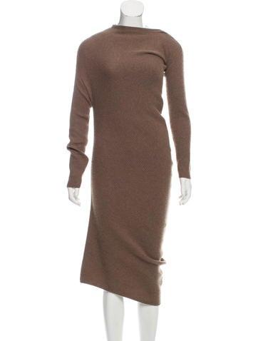 Brunello Cucinelli Asymmetrical Cashmere Dress w/ Tags None