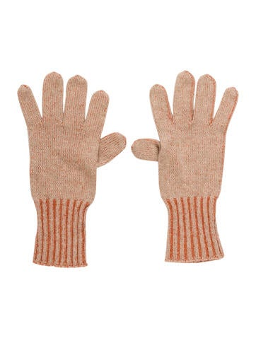 Brunello Cucinelli Cashmere Rib Knit Gloves None