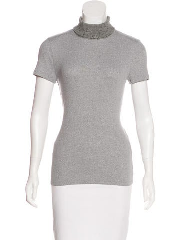 Brunello Cucinelli Sequined Knit Top None