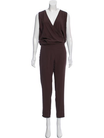 Brunello Cucinelli Sleeveless Silk Jumpsuit w/ Tags None
