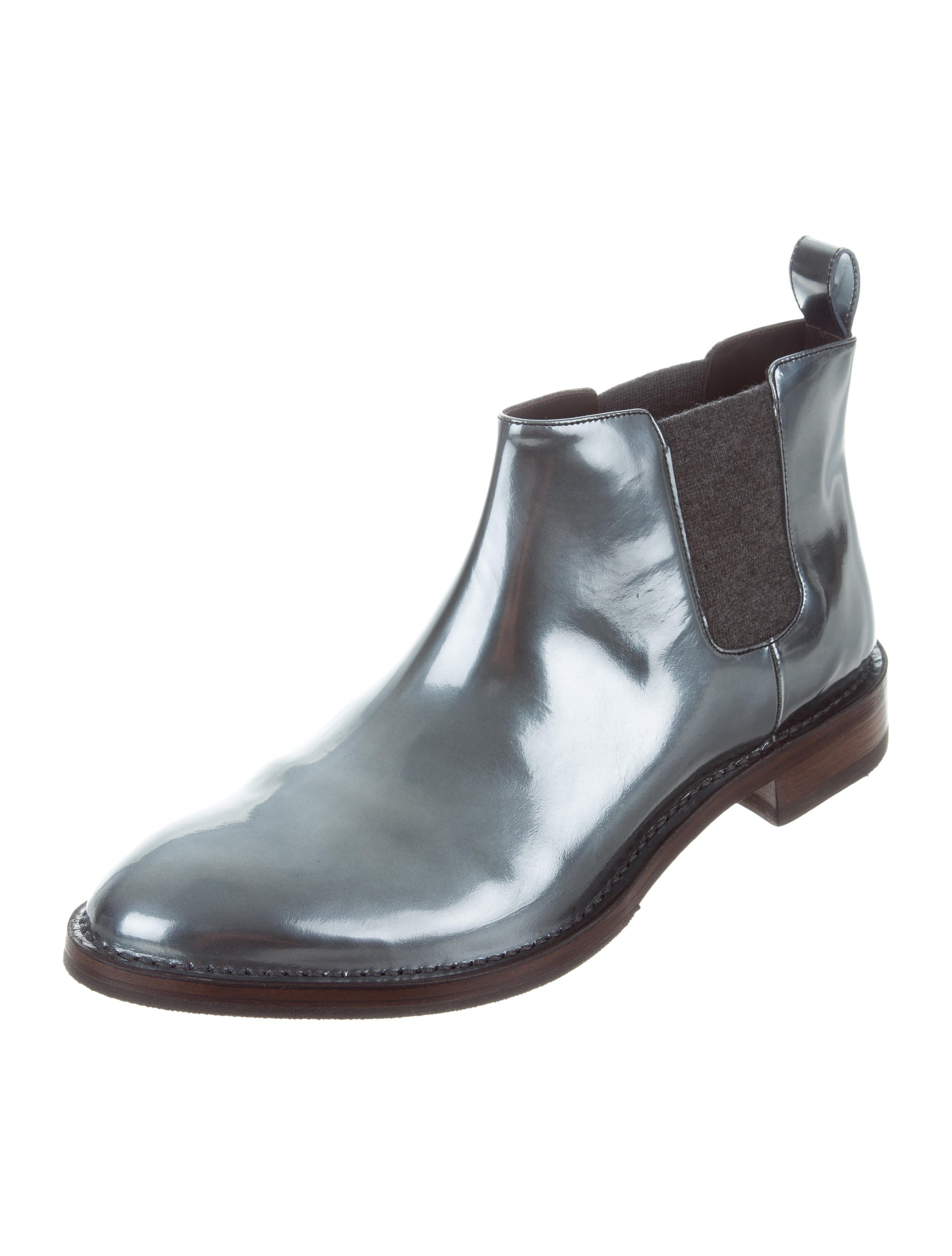Metallic Leather Boots : Brunello cucinelli metallic leather chelsea boots w tags
