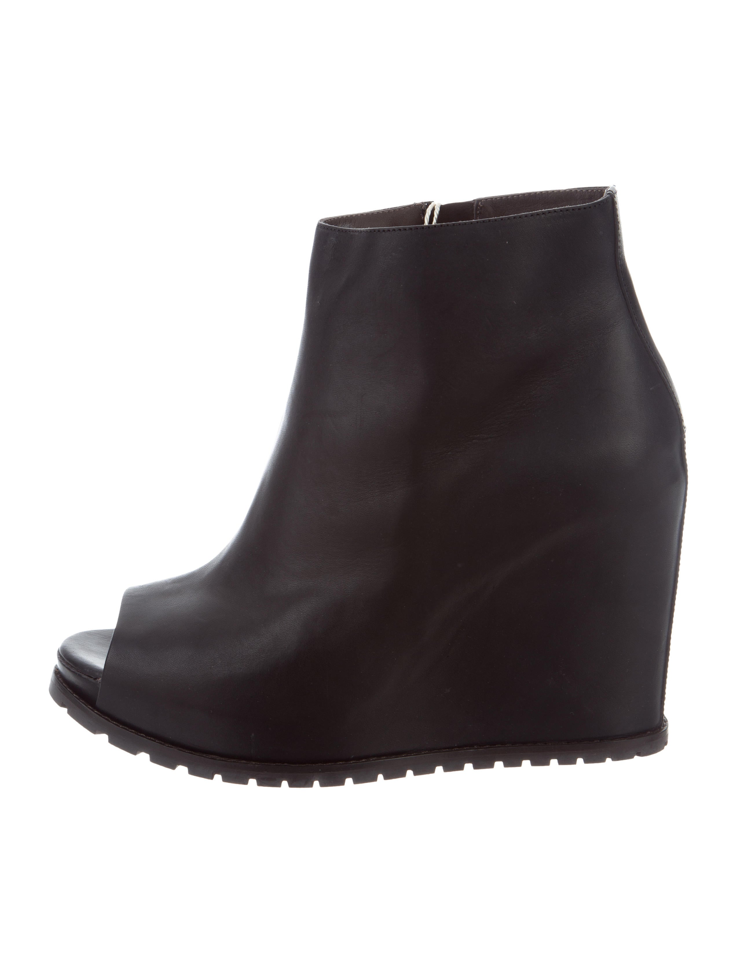 Brunello Cucinelli Peep-Toe Wedge Ankle Boots reliable cheap price uwNAXOpSMr