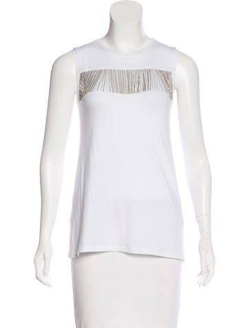 Brunello Cucinelli Monili-Trimmed Knit Top None