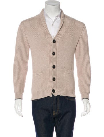 Brunello Cucinelli Shawl Rib Knit Cardigan None