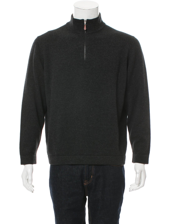 Brunello Cucinelli Wool Half-Zip Sweater - Clothing - BRU50899 | The RealReal