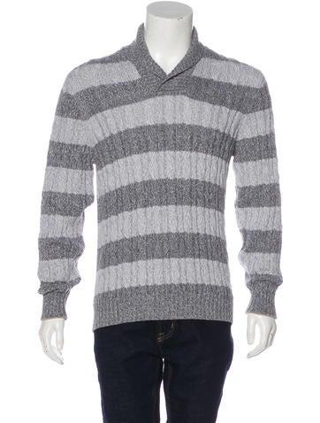 Brunello Cucinelli Striped Shawl Sweater None