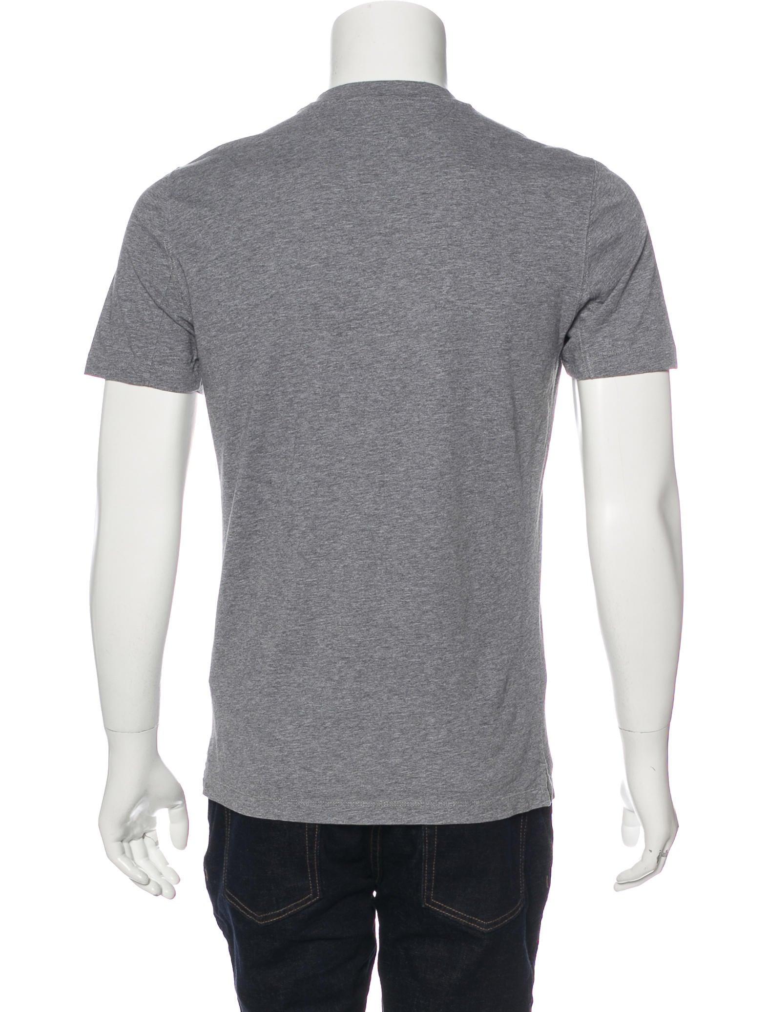 Brunello cucinelli slim fit v neck t shirt clothing for Slim v neck t shirt